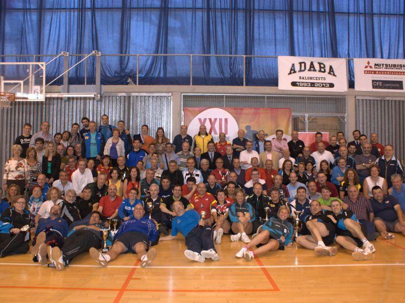 Foto de familia del último Campeonato de España de Veteranos