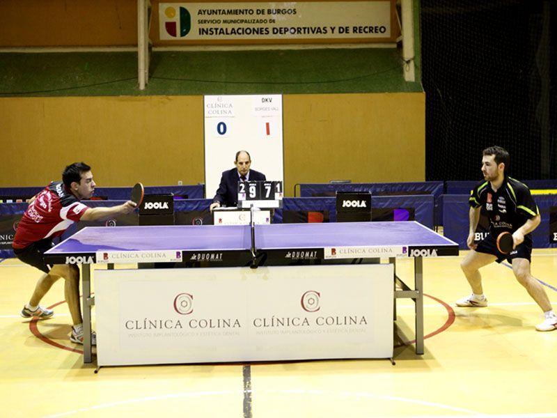 Partido de esta tarde entre el Clínica Colina Burgos y el DKV Borges Vall que acabó con empate a 3. (Foto: Toni Boldú)