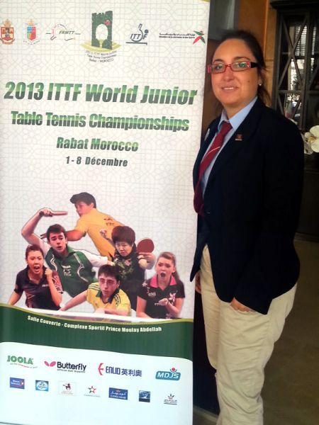 Carmen Turrado en el Mundial Junior de Marruecos.