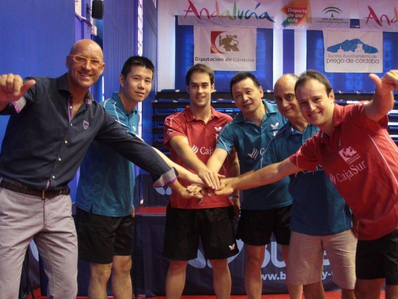 Plantilla del CajaSur Priego tenis de Mesa que se ha ha asegurado su tercer título de liga. (Foto: Priego TM)