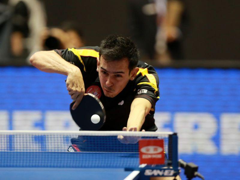 Marc Durán durante el partido de hoy en Japón. (Foto: ITTF)