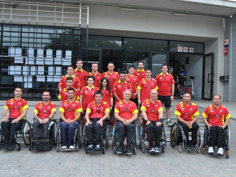 Equipo español que ha estado participando en el  Para Table Tennis Open para Personas con Discapacidad del Prat de Llobregat.