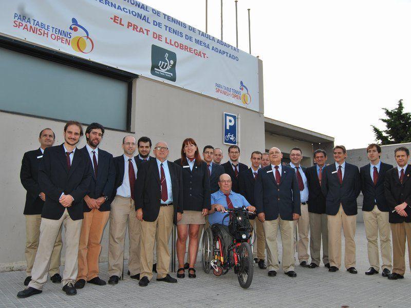 Árbitros del Para Table Tennis Open para Personas con Discapacidad del Prat de Llobregat