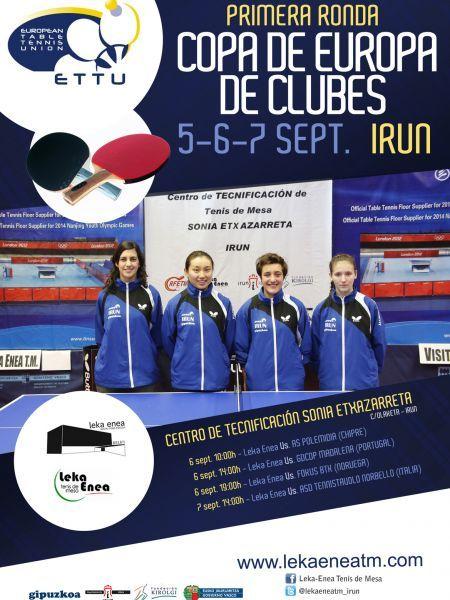 Cartel anunciador del Irún Leka Enea femenino en la Ettu Cup.
