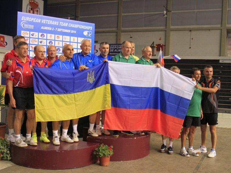 Bonito gesto entre equipos rusos y ucranianos que han participado en esta competición.