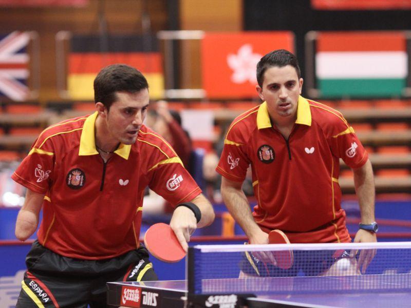 José Manuel Ruiz y Jorge Cardona. (Foto: ITTF)