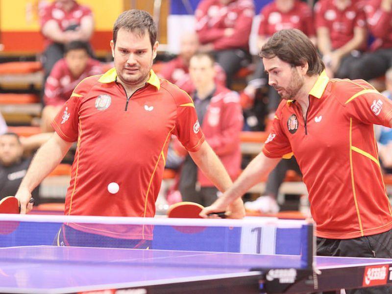 Jordi Morales y Álvaro Valera. (Foto: ITTF)