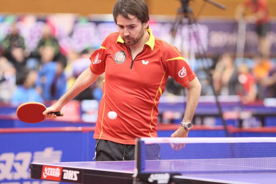 Álvaro Valera fue también Campeón del Mundo en Clase 6. (Foto: ITTF)