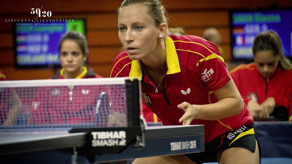 Galia Dvorak, jugadora del equipo femenino español. (Foto: CINCUENTACIENTOVEINTE)