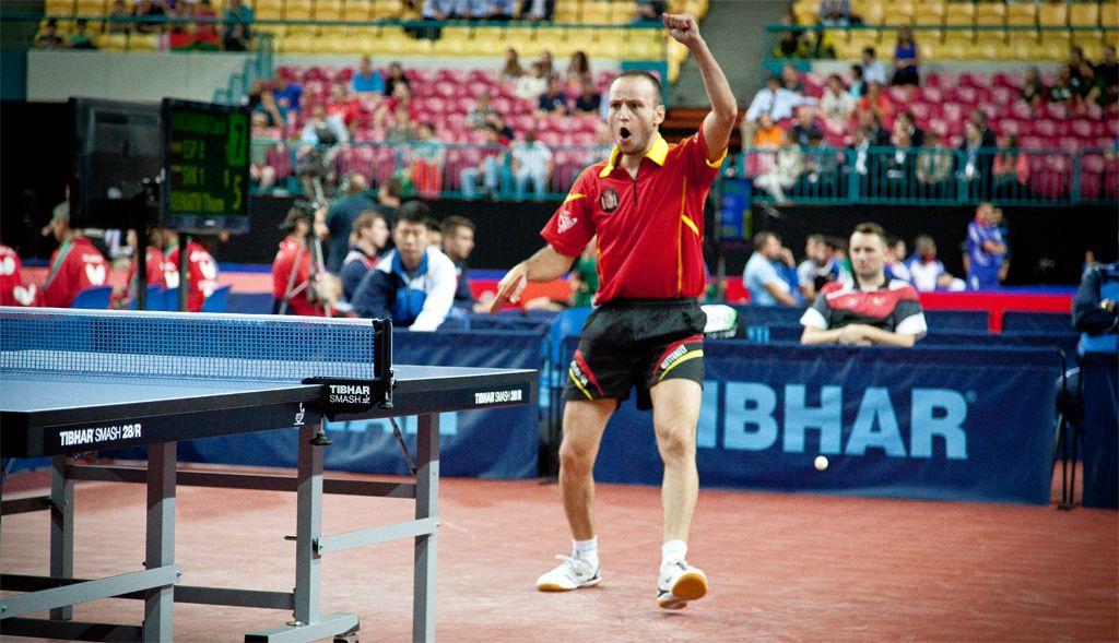 Carlos Machado celebrando una de sus importantes victorias de esta mañana. (Foto: CINCUENTACIENTOVEINTE)