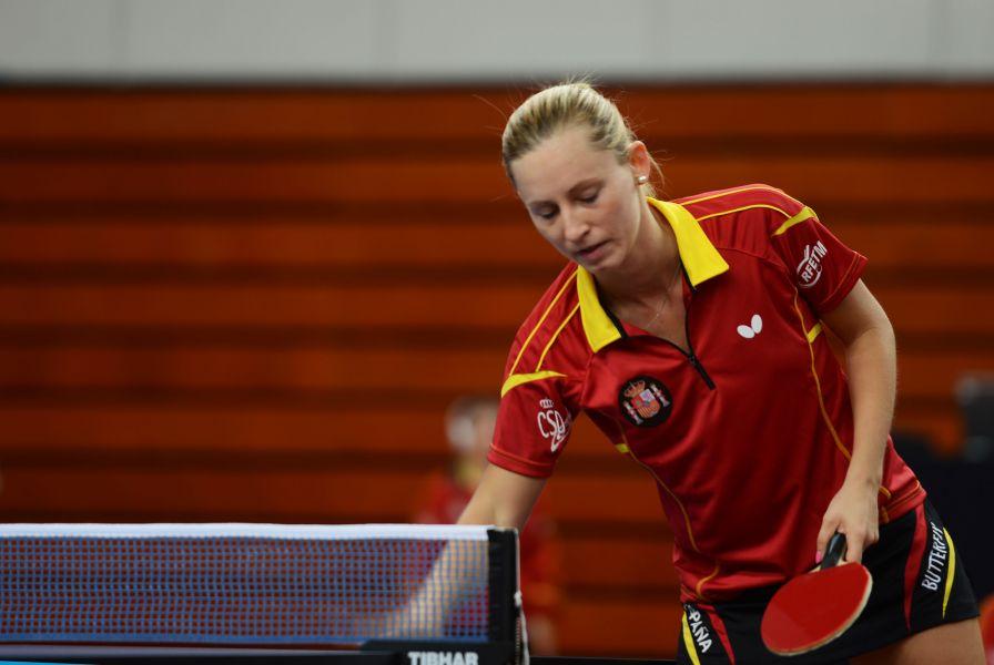 Galia Dvorak ha liderado en este europeo el jóven equipo español. (Foto: ITTF)