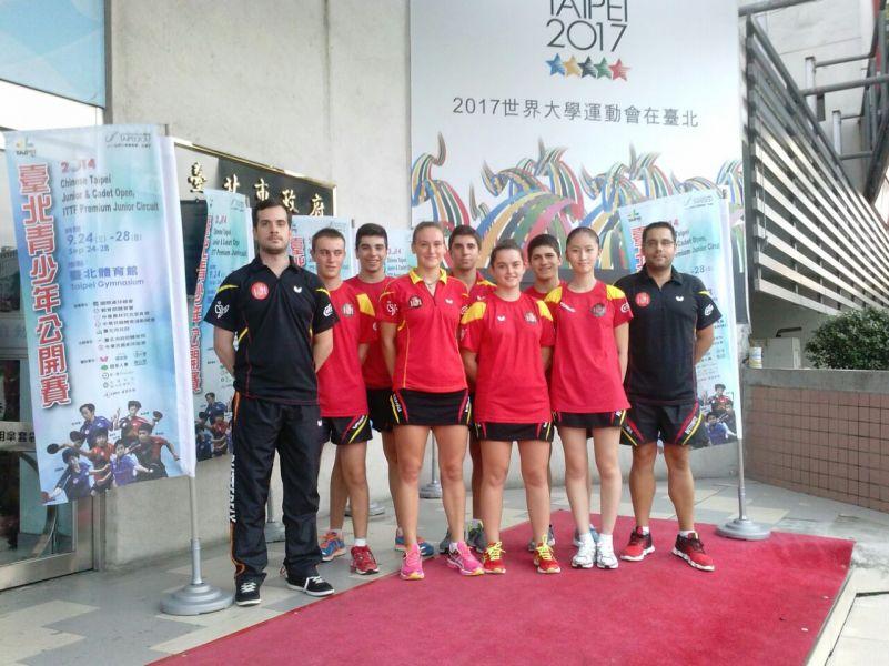 Equipo español en Taipéi
