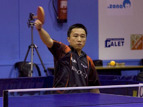 Wu Yichuan, jugador del Irún Leka Enea Fotografía: Alfred Lieury