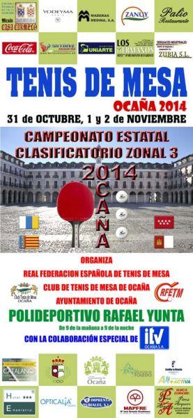 Cartel anunciador Zona 3 que se disputará en Ocaña.
