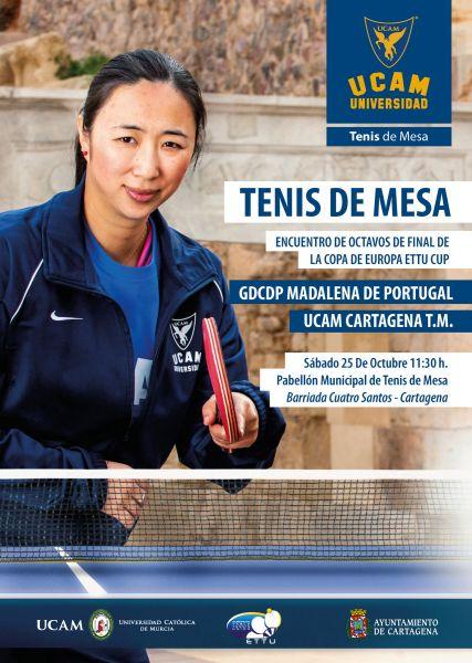 Cartel anunciador del partido del UCAM Cartagena.