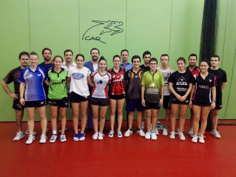 Con el grupo de deportistas del CAR de Sant Cugat.