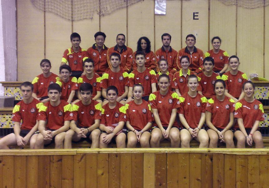 Expedición española en el ITTF Junior and Cadet Circuit de Hungría.