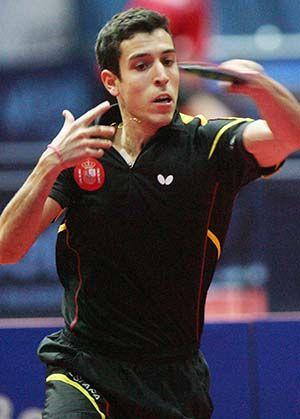 Álvaro Robles en el GAC Group 2014 ITTF World Tour Russian Open. (Foto: ittfworld)