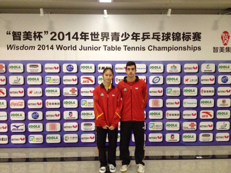 Sofía-Xuan zhang y Miguel Ángel Vílchez en China.