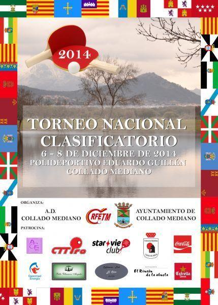 Cartel anunciador del Torneo Nacional Clasificatorio que se celebrará en Collado Mediano