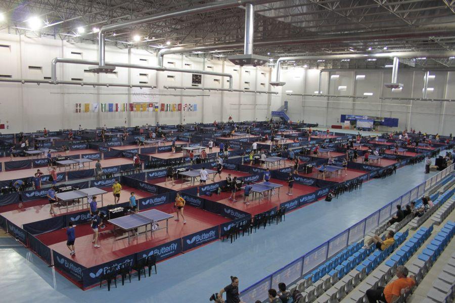 Aspecto del Centro de Atletismo 6º Centenario de Antequera durante los campeonatos de 2014.