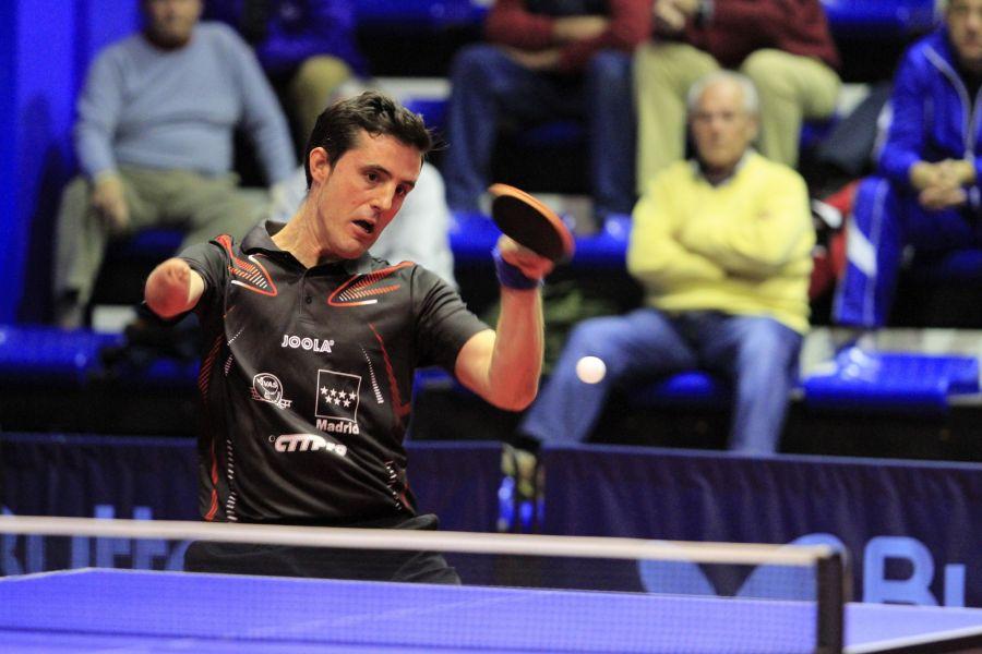 José Manuel Ruiz, jugador del CD Tenis de Mesa Rivas. (Foto: Antonio García)