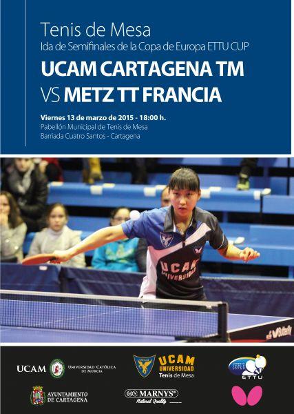 Cartel anunciador de las semifinales de la ETTU Cup Femenina