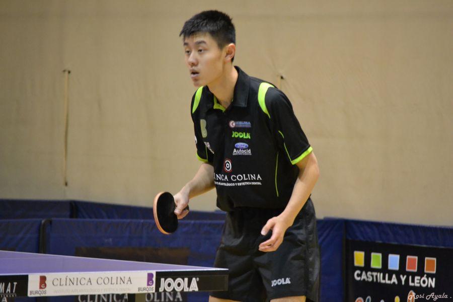 Bohan Zhang, jugador del Clínica Colina Burgos. (Foto: Rosi Ayala)