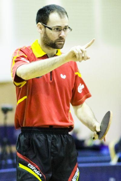 Eduardo Cuesta en el PTT Open de Hungría. (Foto: ittfworld)