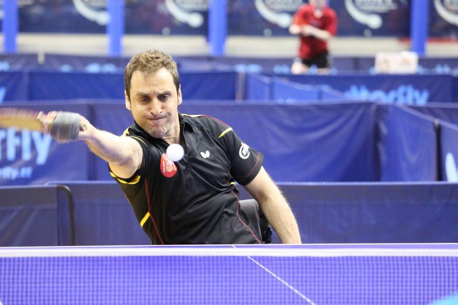 Iker Sastre participando en el PTT Open de Italia. (Foto: ittfworld)