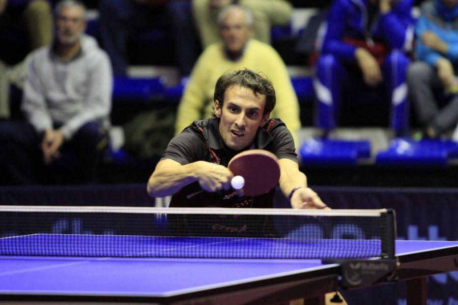 Guillermo Martínez, jugador del CD Tenis de Mesa Rivas. (Foto: Antonio García)