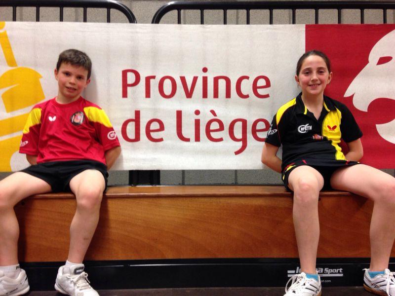 Daniel Berzosa y Elvira Rad en el Open de Lieja (Bégica)