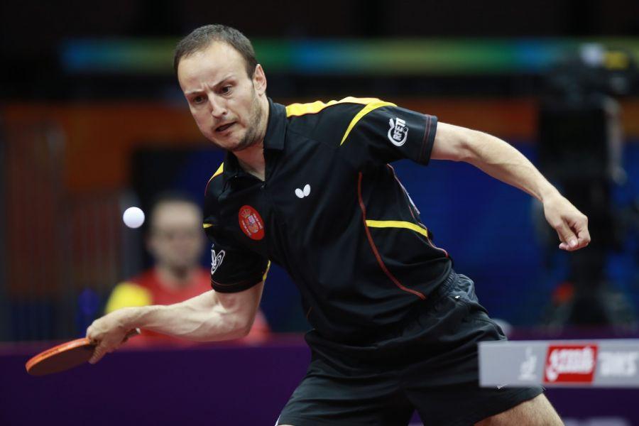 Carlos Machado en China. (Foto ITTF)