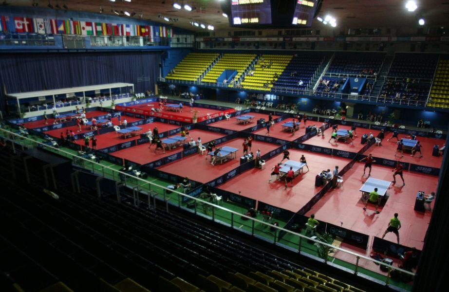 Vista general del área de juego en Croacia. (Foto: ITTF)
