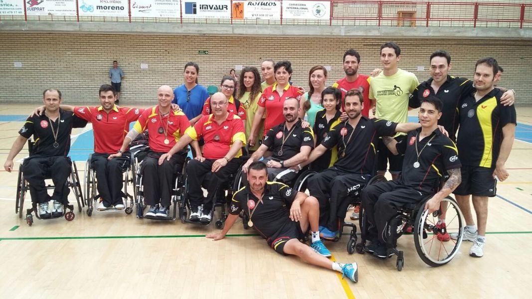 Equipo español en último Open Internacional celebrado en El Prat de Llobregat.
