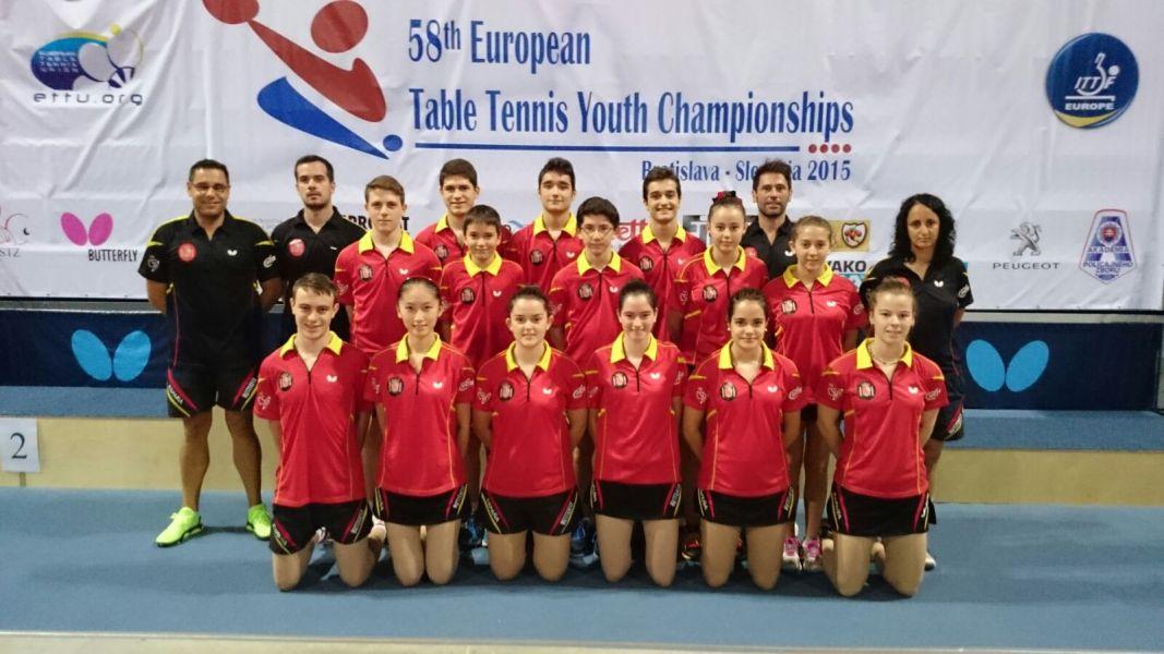El equipo español en Eslovaquia.