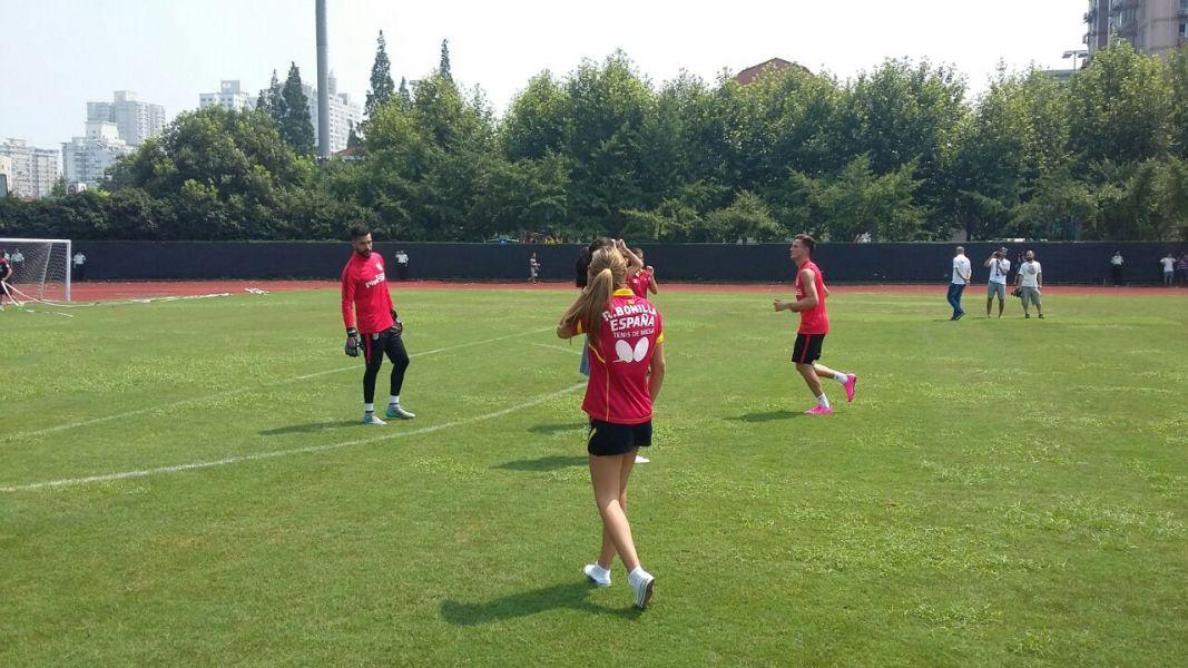 En el entrenamiento del Atlético de Madrid. (Foto: @LaLiga)