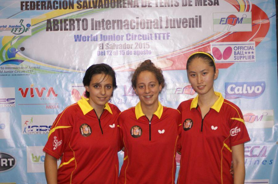 Zhang, Ballester y Enríquez coparon el podio individual. (Foto: ittfworld)