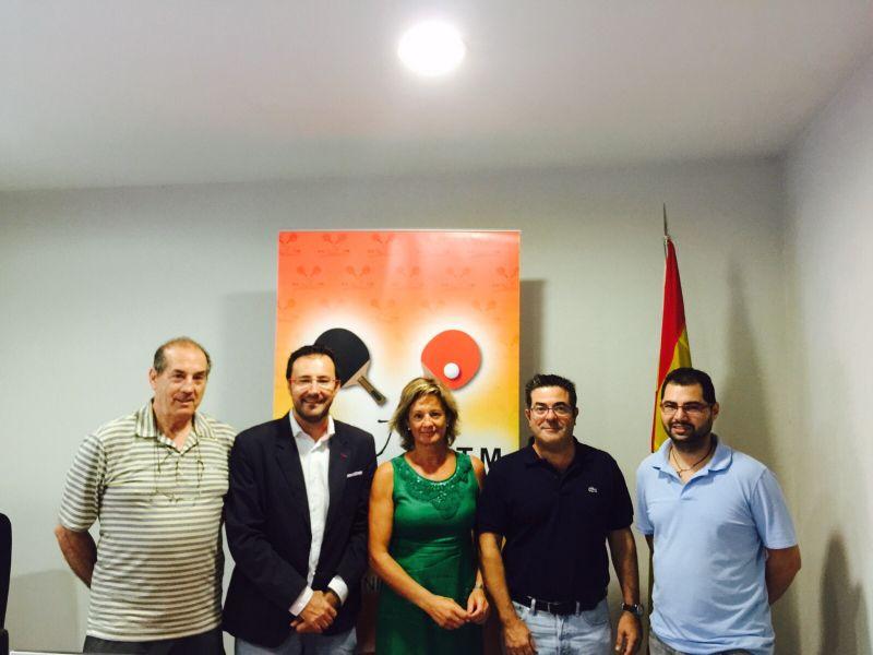 Asistentes al sorteo celebrado esta mañana en la sede de la Real Federación Española de Tenis de Mesa en Madrid.