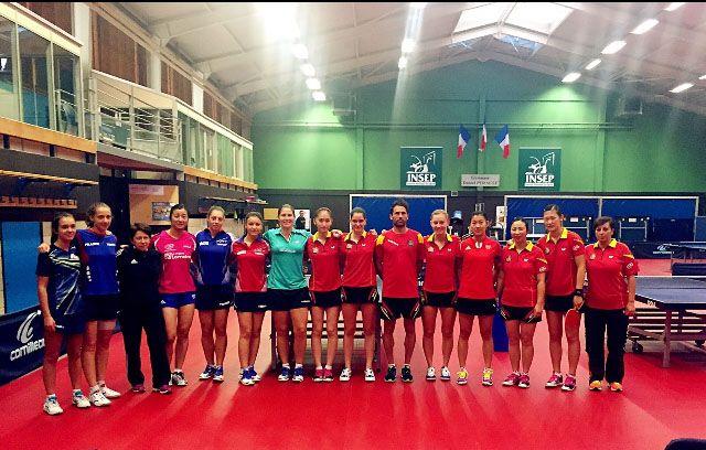 Concentración previa al Europeo del equipo femenino, en el CAR de Sant Cugat.