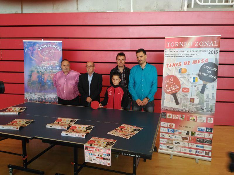 En la foto presentación del Zonal 3 que se disputará en Elda.