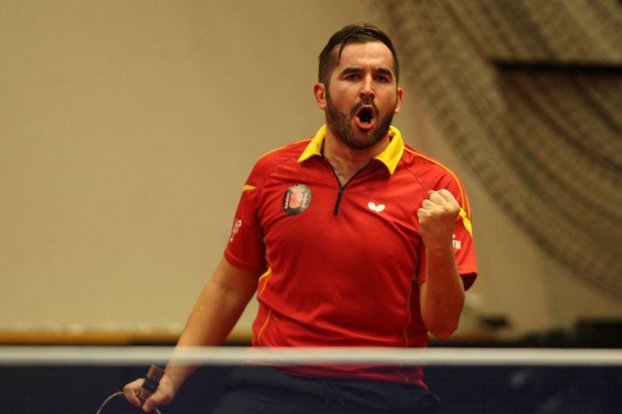 Jesús Cantero en Suecia. (Foto: ITTF)
