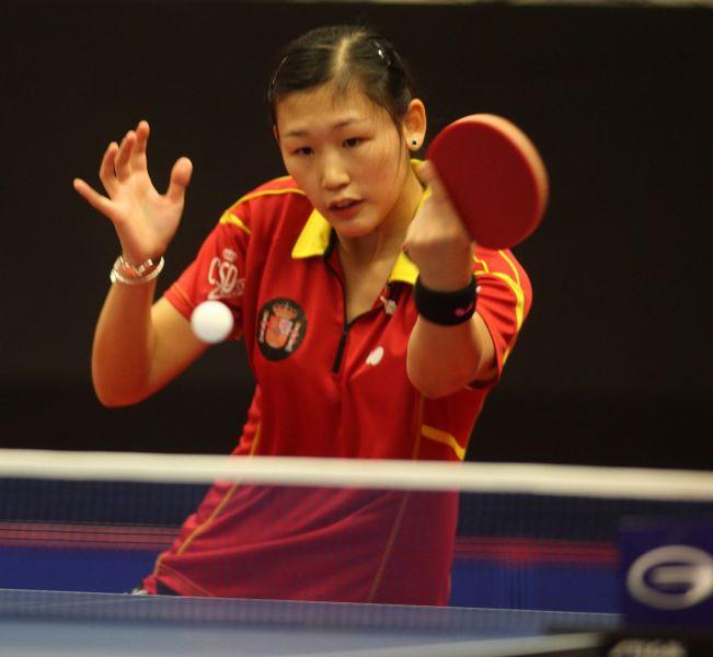 María Xiao en Suecia. (Foto: ITTF)