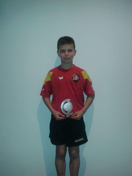 Daniel Berzosa (Club Burgos TM) se proclamó campeón de la prueba infantil del Open de Gondomar.