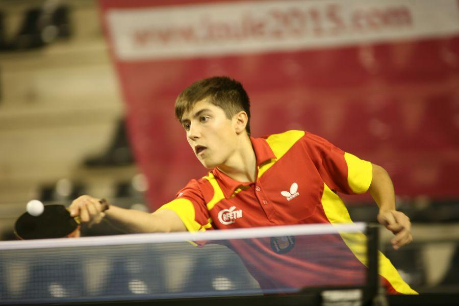 Sergi Grau durante la competición de Portugal. (Foto: ittfworld)