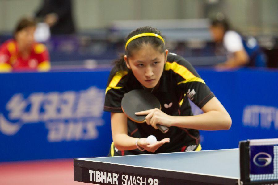 Sofía-Xuan Zhang en su participación de 2014 en el Mundial de China. (Foto. ITTF World)