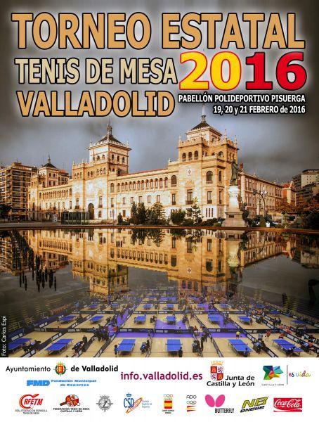 Cartel anunciador del Torneo Estatal 2016, con foto de Carlos Espi.