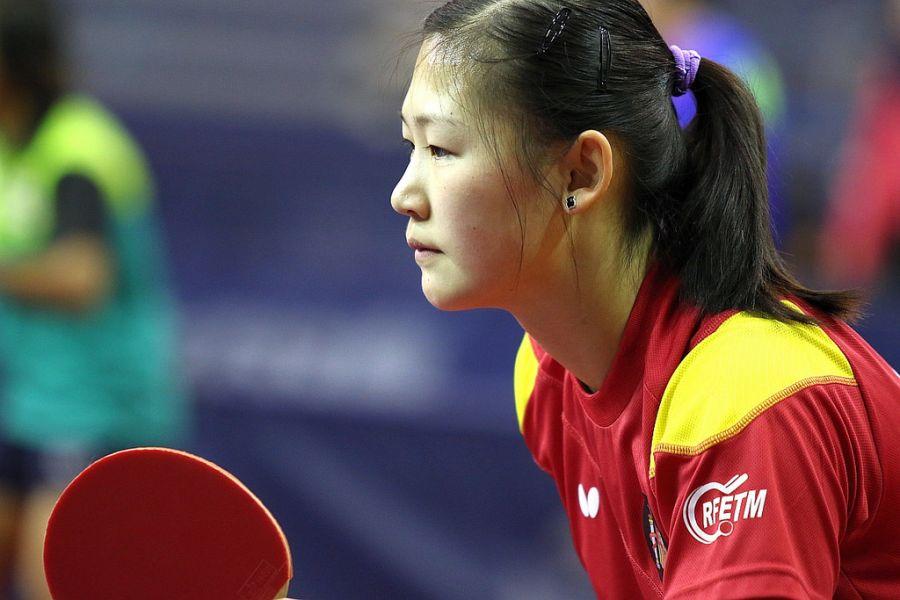 María Xiao durante los entrenamientos del martes en Hungría. (Foto: ittfworld)