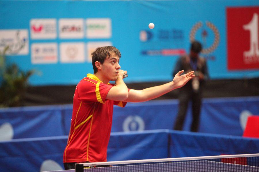 Carlos Vedriel en el 2015 World Junior Circuit Finals. (Foto: ittfworld)