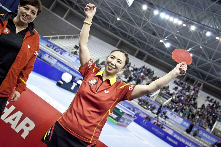 Yanfei Shen celebrando la victoria. (Foto: Cincuentacientoveinte)